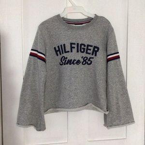 Gray Long Sleeve Crewneck Sweater -Tommy Hilfiger